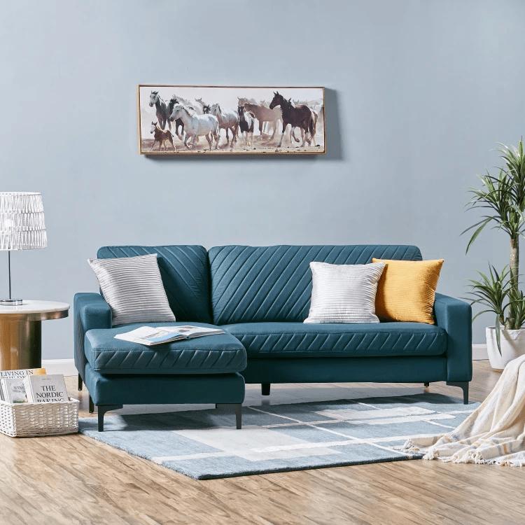Joy 3-Seater Fabric Corner Sofa
