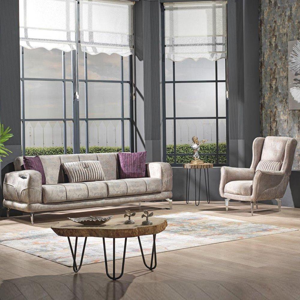 Mildred 3+1 Fabric Sofa Set