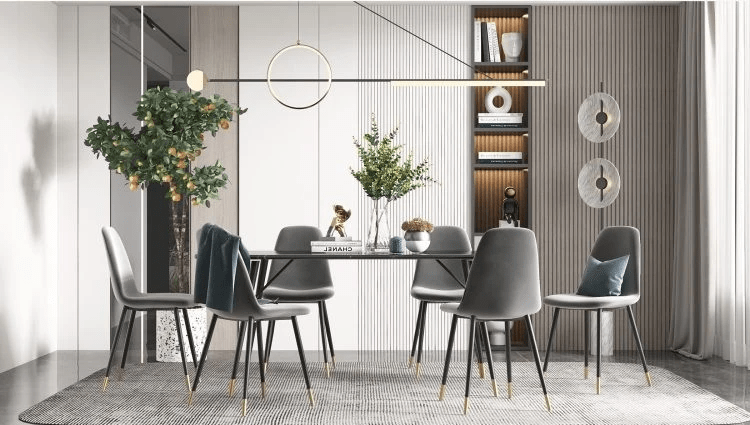 Parson 6-Seater Dining table Set
